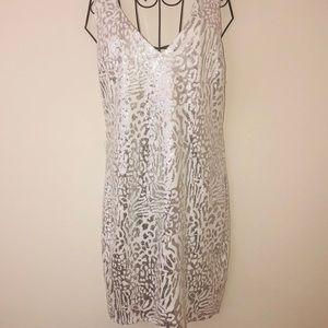 F21-White Leopard Sequin Dress